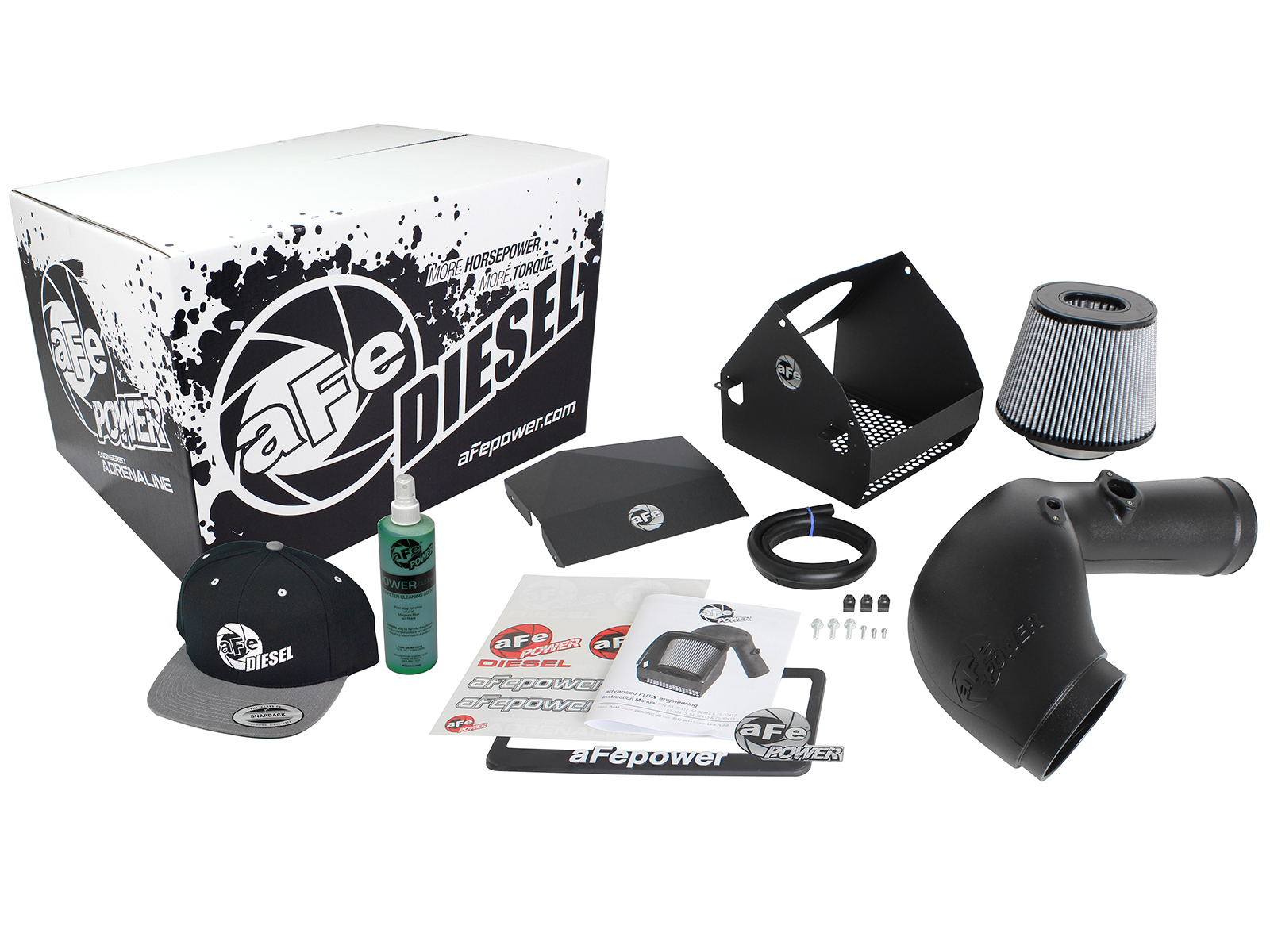 aFe Power 51-32413-E Diesel Elite Pro DRY S Stage-2 Intake System for Ram