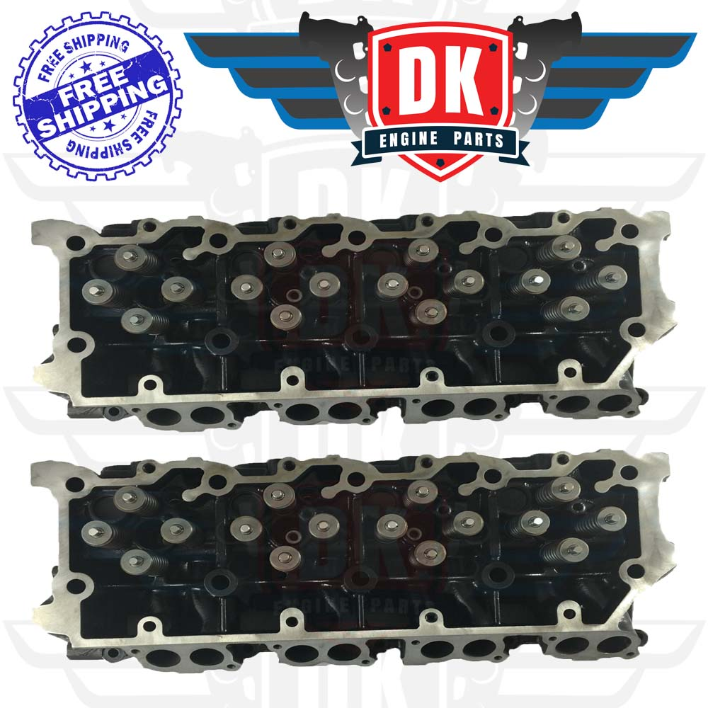 O'Ringed Cylinder Heads (2) Complete with Valve Train - DK-FD6.0LoadedOR - DK Engine Parts